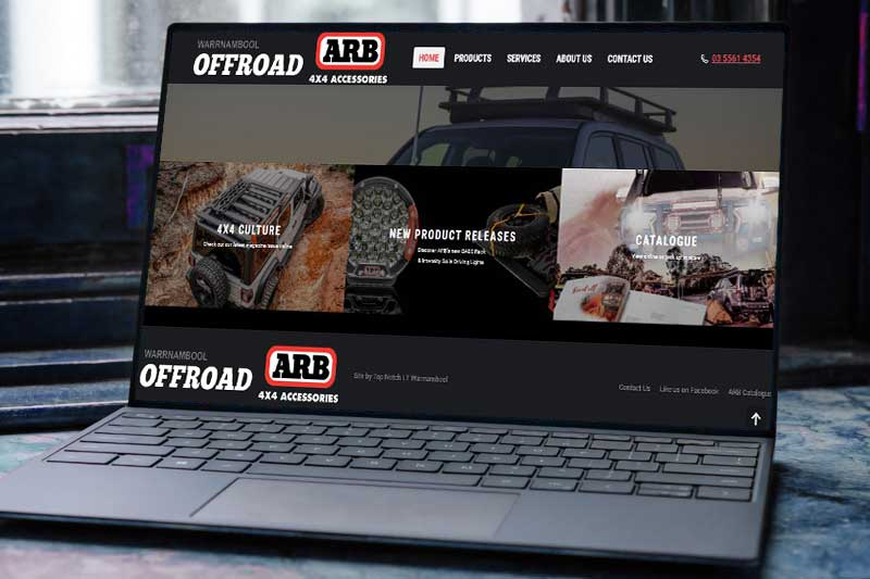 Top Notch I.T Warrnambool Web Design and SEO online Portfolio Image 1